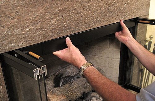 HANG YOUR FIREPLACE SCREEN IN STYLE with Condar's Fireplace Rod and Valance Kit (9-76). Easy to install. by Condar