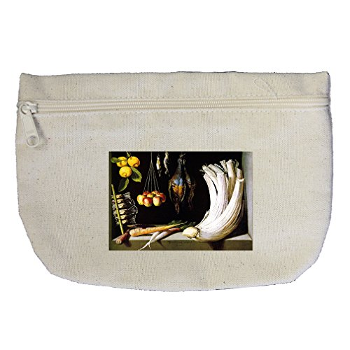 Sanchez Bag - Venison Vegetables And Fruits (Sanchez) Canvas Makeup Bag Zippered Pouch