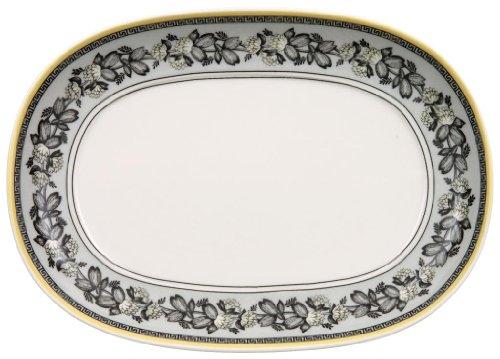 Villeroy & Boch 1010673570 Audun Ferme Pickle Dish/Gravy Stand, 7.75 in, White/Gray