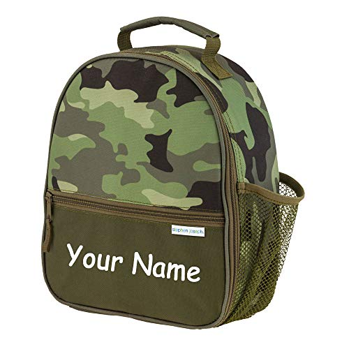 SJ Stephen Joseph Personalized Camo Camouflage All Over Print Back to School Lunchbox Lunch Bag with Custom Name
