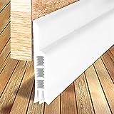 #4: Door Draft Stopper, Under Door Insulator Door Sweep Weather Stripping Noise Stopper Prevent Bugs(White 2