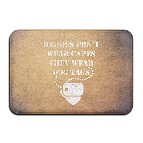 Heroes Capes Dog Tags Pet Funny Letters Gift Welcome Mat Doormat Outdoor Funny