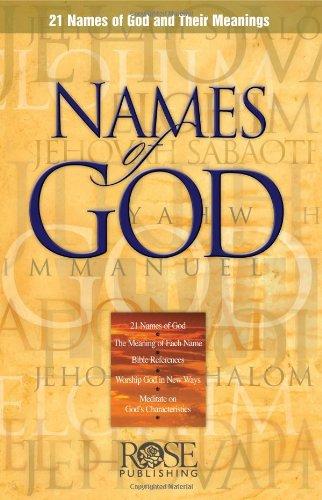 Names of God pamphlet -pkg of 5 pamphlets (Pkg Rose)