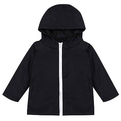 1b3a7240b Amazon.com  LZH Toddler Boys Girls Raincoat Waterproof Jacket Coat ...