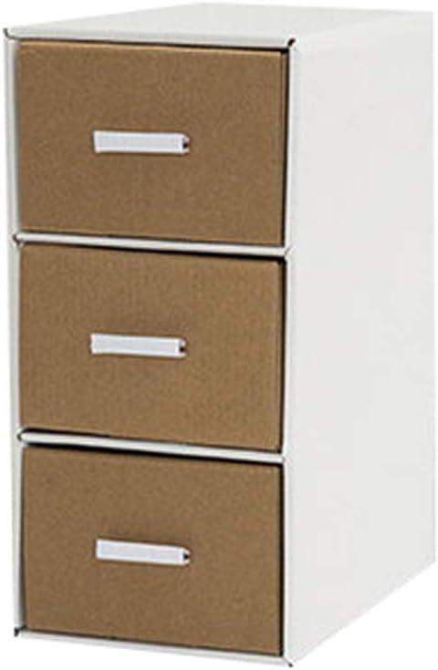 QIQIDEDIAN Caja de Almacenamiento Papel Escritorio Caja de Almacenamiento Oficina Estudiante Caja de Acabado Combinación Libre Cajón Multicapa (Color : Shell White): Amazon.es: Hogar