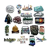 Toys : Mizzuco Vinyl Stickers Waterproof Adventure Stickers 66 Pieces for Laptop Bumper Helmet Ipad Car Luggage Water Bottle (HW223)
