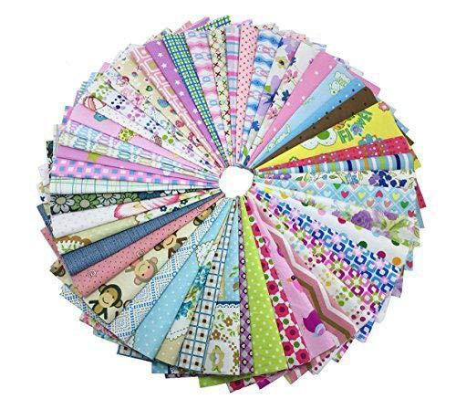 levylisa 200 PCS 6'' x 6''100% Precut Cotton Fabric Bundles DIY Quarters Bundle, Squares Quilting Fabric Quarter Fabric Bundle, Precut Fabric, Quilting Fabric Bundles, Precut Quilt - Kit Quilting Fabric Material