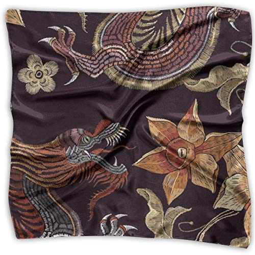 Handkerchiefs Chinese Embroidery (Embroidery Chinese Dragons Women'S Handkerchiefs Scarf Shawl Bandanas Multi-Function Party23.6