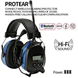Noise Reduction Wireless Earmuffs with Bluetooth AM