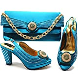 Shoes with Matching Bags Women Wedding Shoes and Bag Set Decorated with Appliques Party Shoe as pictures3 9