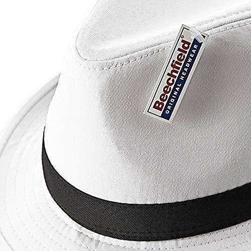 Beechfield Fedora White L//XL