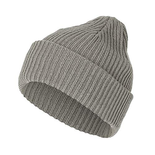 WITHMOONS Ribbed Knit Beanie Winter Hat Slouchy Watch Cap GZ50019 (Grey)