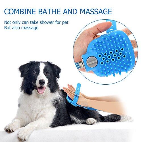 Pet Shower Sprayer Dog Bathing Tool - Shower Head & Brush in One 8.2 Ft Hose 2 Adapters, Dog Cat Horse Grooming & Massage, Dog Wash Bathtub Outdoor Use by Wonder (Image #5)'