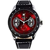 Fashion New Men's Steampunk Style Luxury Sport Automatic Mechanical Watch Odm 51 - Red