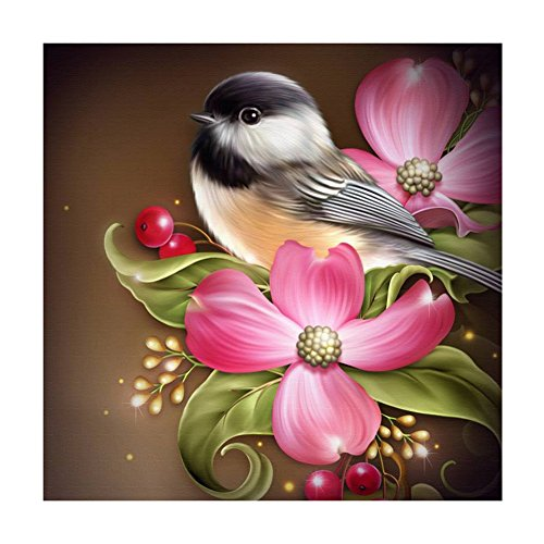 DIY 5D Diamond Flower Bird Painting Embroidery Home Decor Craft