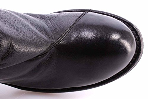 Zapatos Mujer Botín MOMA Ankle Boots 78501-4A Cusna Nero Negro Piel Vintage ITA