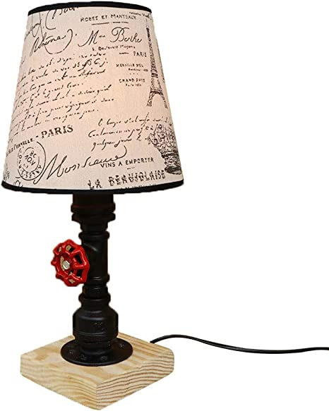 GYL LIGHTING Lámpara de Mesa Vintage, luz de Escritorio de Tubos ...