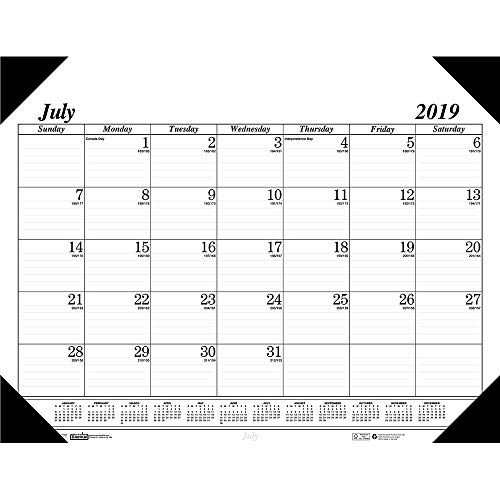 House of Doolittle 2019-2020 Monthly Desk Pad Calendar, Academic, Economy, 22 x 17 Inches, July - August (HOD12502-20)