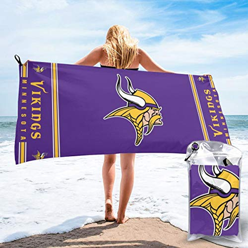 Jacoci Minnesota Vikings Microfiber Towel Fast Quick Dry Super Absorbent Ultra Compact for Camping Travel Gym Beach Swimming Backpacking
