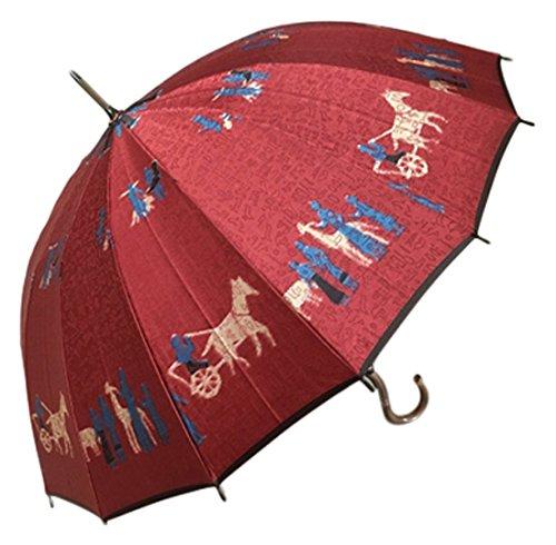 Mont Blanc (モンブラン) 高級美術洋傘ほぐし織り 雨傘 フラワーガール 白/グリーン 長傘 B071H9N1Z5 白/グリーン|フラワーガール 白/グリーン