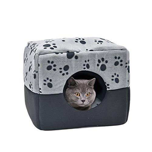 BMD-PET Cama para Gatos, Pata de Doble Uso Cama para Mascotas Cama para Perros Cube Cama Nido para Mascotas Pequeños Animales Gatos Conejos Perros pequeños ...