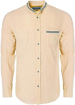 Carisma CRM8489 - Camisa de lino, cuello alto, color rosa: Amazon.es: Ropa y accesorios