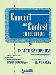 Concert & Contest Collection For Eb Alto Saxophone: Solo Book Only (Rubank Educational Library)
