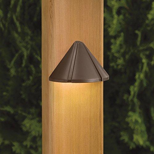 Kichler  15765BBR Mini LED Deck Rail Light, Brushed Brass