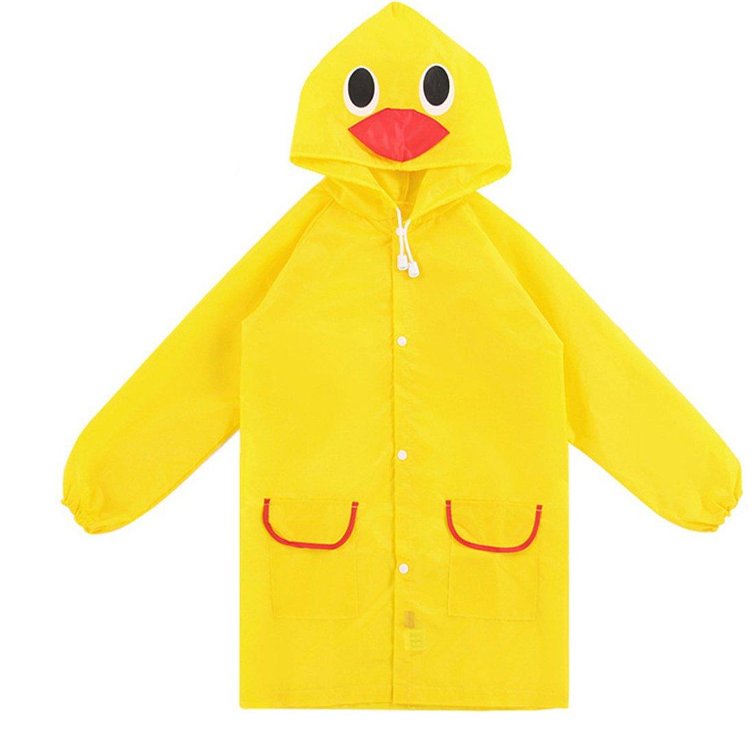 Aelegant Unisex Kinder Jungen/mädchen süße Cartoon Form Regenmantel Wasserdicht Regenjacke mit Kapuze Softshelljacke Regenponcho Blau Auto)