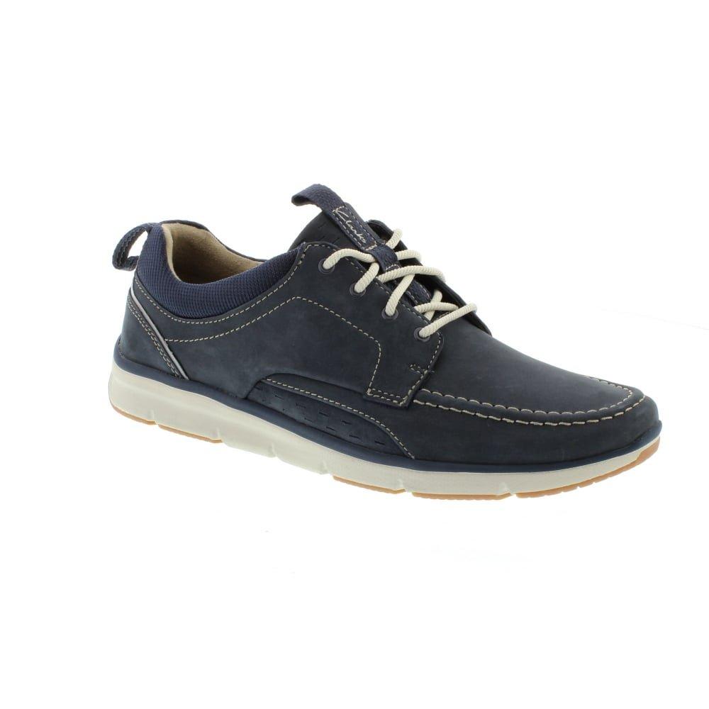 Clarks Men's Orson Bay Casual Lightweight Shoes 9.5 UK/10.5 D(M) US Navy Nubuck