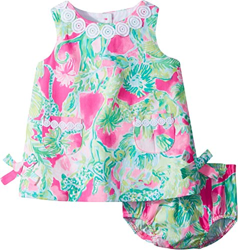 Lilly Pulitzer Baby Girls Lilly Shift Dress, Razzle Berry Catty Shack, 18/24M