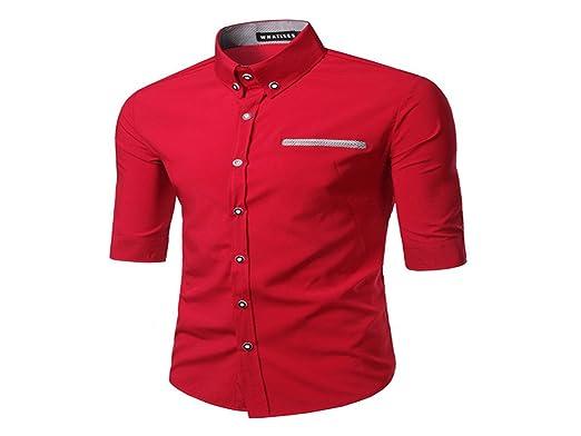 5c0d2d6444a Donald Trump Simple Plaid Man Three Quarter Shirts Casual Shirts Fashion Men  Shirt  Amazon.co.uk  Clothing
