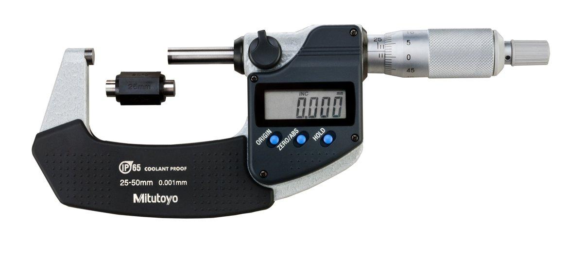 MITUTOYO Digital B/ügelmessschraube Serie 293 ohne Datenausgang IP65 25-50 mm, 1 1 St/ück,293-241-30 Messbereich 25-50 mm