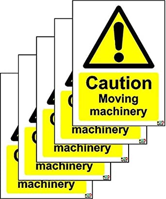 Caution Moving Machinery Safety Sign