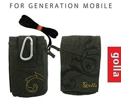 - GOLLA G189 CASE COVER BAG POUCH UNIVERSAL FIT FOR MOST MOBILE SMART CELL PHONES WITH ZIPPER, BELT AND NECK STRAP /samsung galaxy s2 / iphone 5 / iphone 4s/3/4 /blackberry/ HTC DESIRE / LG /motorola /apple iphone 5
