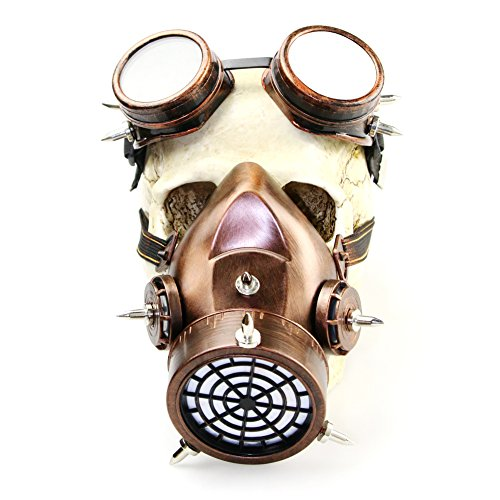 2017 Halloween Retro Rubber Steampunk Mask For Horror Party and Cosplay (Vintage (Red Halloween Mask 2017)