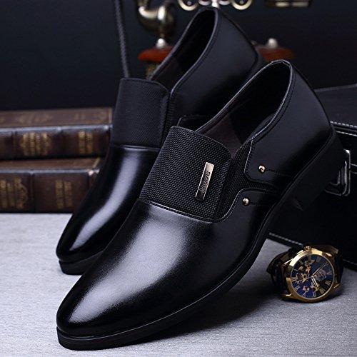 uomo lavoro da traspirante pelle Slip Matte da in BMD di Scarpe Shoes Splice possibilit on Opaco interna tela Fodera Scarpe pelle e YRqB8Sw