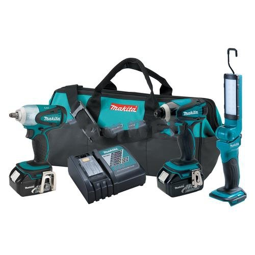 Makita LXT320 Impact Driver, Wrench, and Flashlight Combo Kit