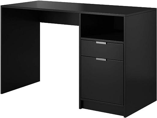 E-com - Mesa de Escritorio LYN Negro- 120 cm: Amazon.es: Hogar