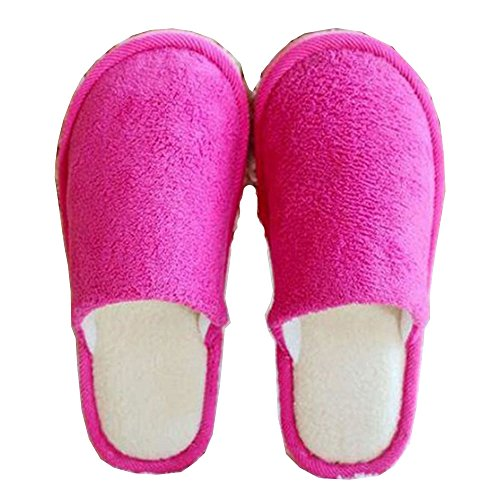 [Velvet Indoor Soft Shoes House Warmer Slippers (Women, Pink)] (Child Star Wars Costume Australia)