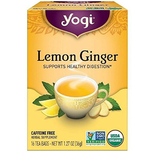 Yogi Tea Lemon Ginger Tea Bags 16 ea ( pack of 6) (Yogi Ginger)