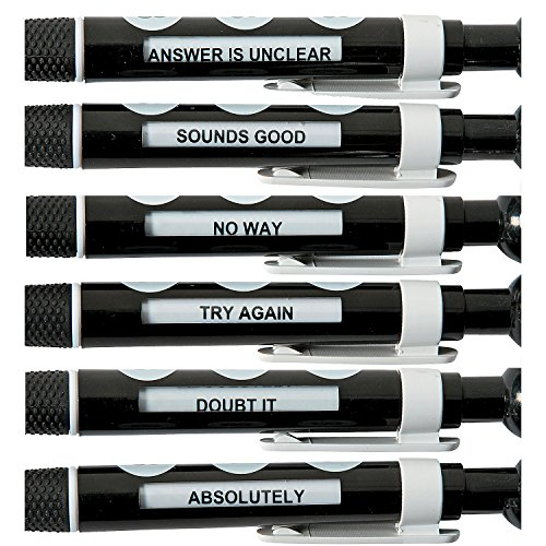 8 Ball Message Pens (12 Pack) Plastic. Black Ink. Basic School Supplies & Pens Photo #2
