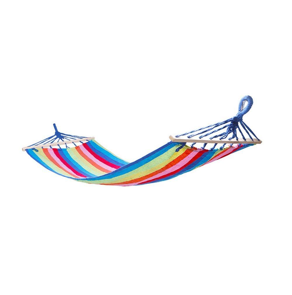hammock Hängematte/Picknick-Hängematte im Freien/Schlafsaal für Innenbereich Hängematte/Tragbar ca. 300 Pfund (270 * 90cm/3 Farben) (Farbe : B)