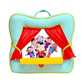 Finger Puppet Theater Stage by Better Line - Set Includes 6 Finger Family Puppets - Portable Plush Finger Puppet Theater is the Best Preschool Kids (green)