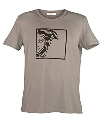 da3b2dfa696 Amazon.com  Versace Collection Men s Gray Medusa T-shirt  Clothing