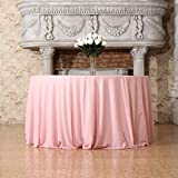 3e Home 90-Inch Round Sequin TableCloth for Party Cake Dessert Table Exhibition Events, Pink