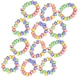 Kicko Stretchable Candy Bracelet - Pack of 12 Colorful Fruit-Flavored Chewables for Party Favors, Cake Decorations, Novelty Supplies or Treats for Halloween, Christmas, Baby Showers