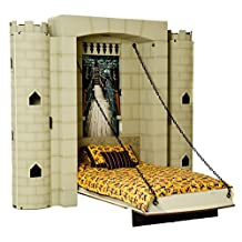 """Fable Bedworks Wallbed, """"Dragonslayer Stronghold"""", Twin Size Castle Theme Bed"""