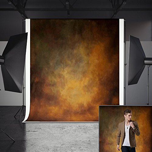Abstract Backdrops, MeeQee 5ft(W) x7ft(H) Brown Abstract Photography Backdrops Pictorial Cloth Portrait Photography Studio Background Screen for Photo Video, MQ-CO3 by MeeQee