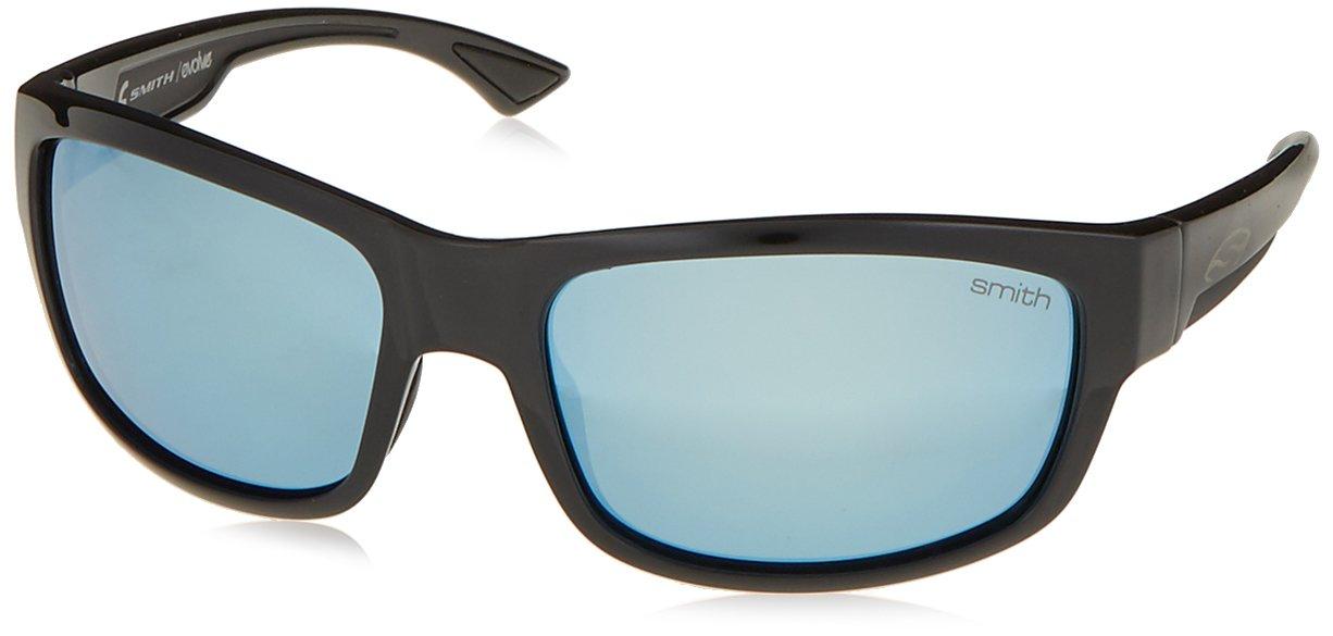 Smith Optics Dover Sun Sunglasses, Black Frame, Polar Blue Mirror TLT Lenses